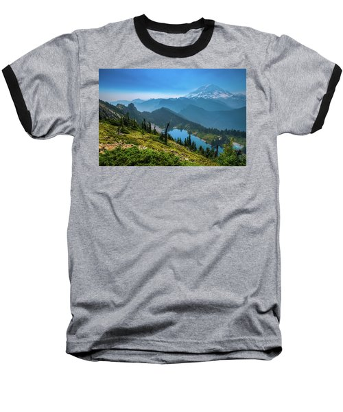 Mt. Rainier And Eunice Lake Baseball T-Shirt