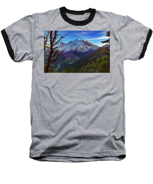 Mt Rainier At Emmons Glacier Baseball T-Shirt