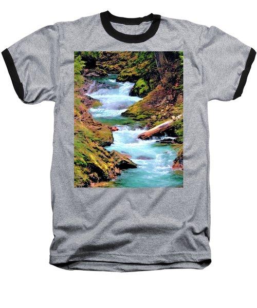 Mt Rainier Cascades, Fine Art Print Baseball T-Shirt