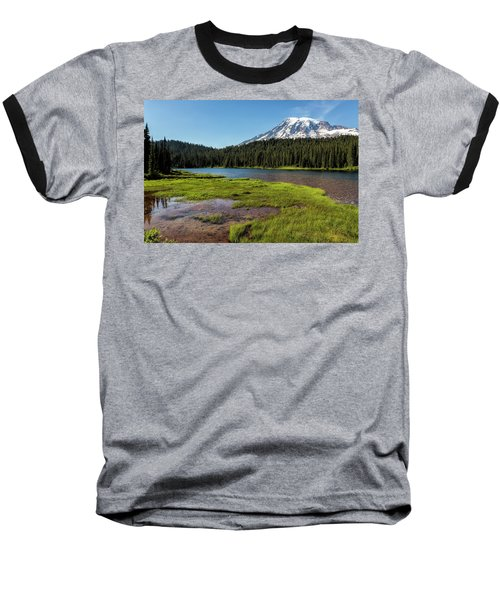 Mt Rainier From Reflection Lake, No. 2 Baseball T-Shirt