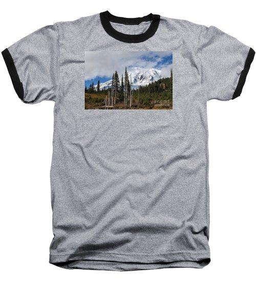Mt. Rainier High Meadow Baseball T-Shirt by Chuck Flewelling