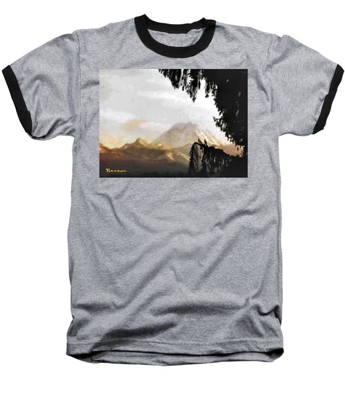 Baseball T-Shirt featuring the photograph Mt. Rainier In Lace by Sadie Reneau