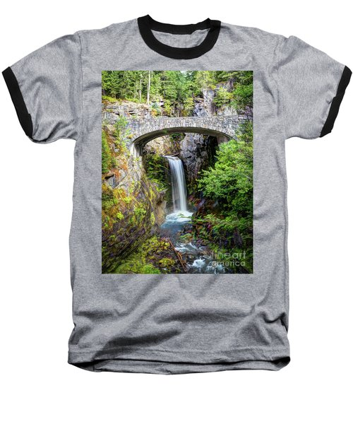 Mt Rainier National Park, Christine Falls Baseball T-Shirt