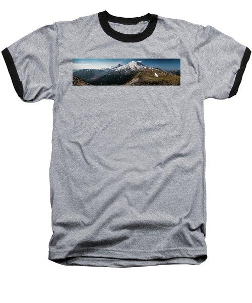Mt. Rainier Panoramic Baseball T-Shirt
