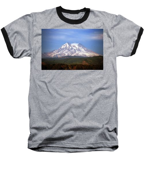 Mt. Rainier Baseball T-Shirt by Sumoflam Photography