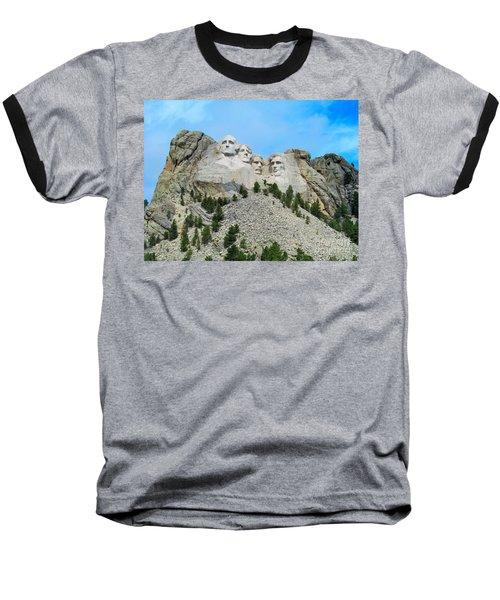 Mt Rushmore Baseball T-Shirt