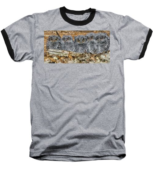 Mt. Rushmore Mimics Baseball T-Shirt
