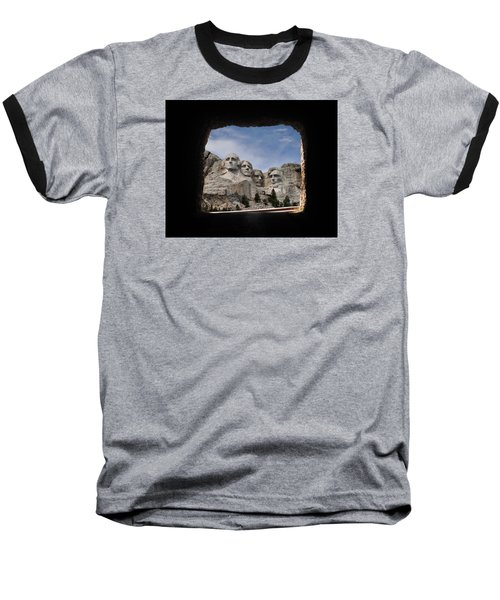 Baseball T-Shirt featuring the photograph Mt Rushmore Tunnel by David Lawson