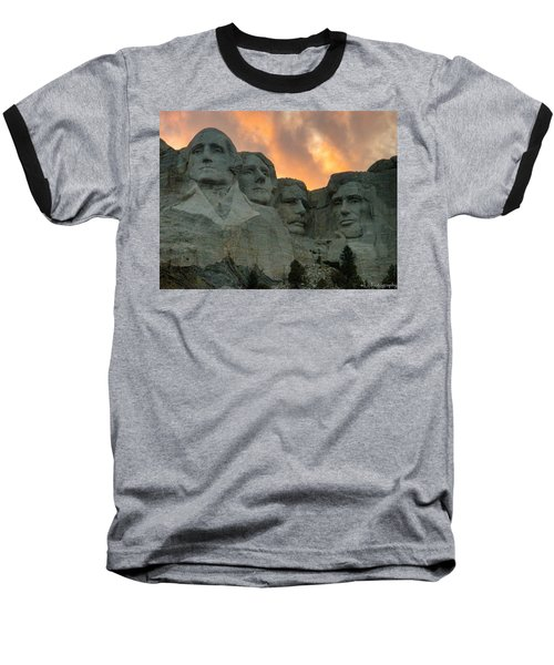 Mt. Rushmore Baseball T-Shirt