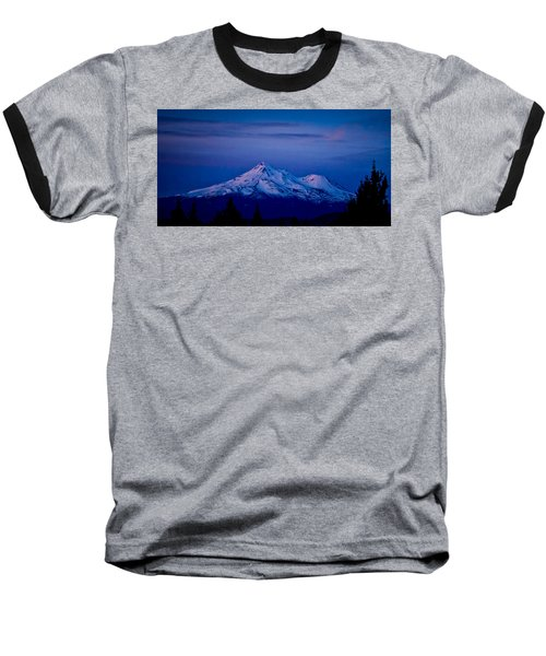 Mt Shasta At Sunrise Baseball T-Shirt