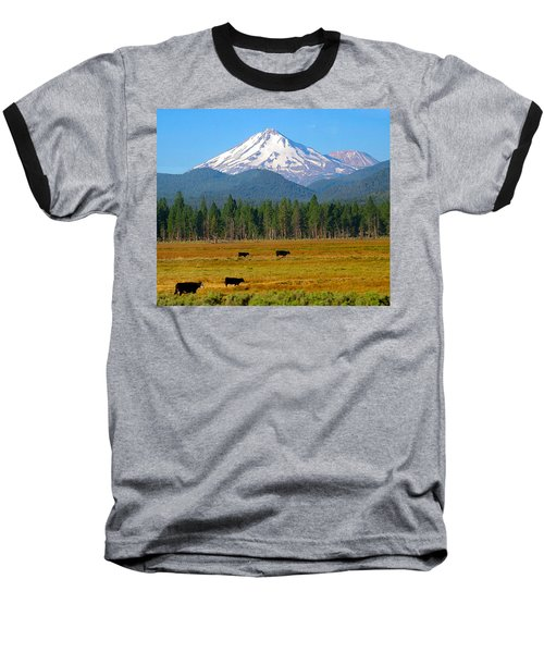 Mt. Shasta Morning Baseball T-Shirt