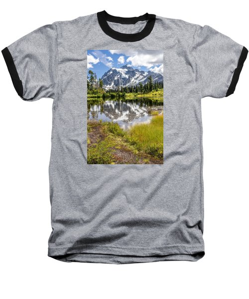 Mt Shuksan On Picture Lake 2 Baseball T-Shirt by Rob Green