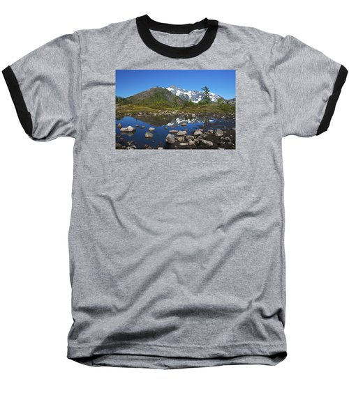 Mt. Shuksan Puddle Reflection Baseball T-Shirt