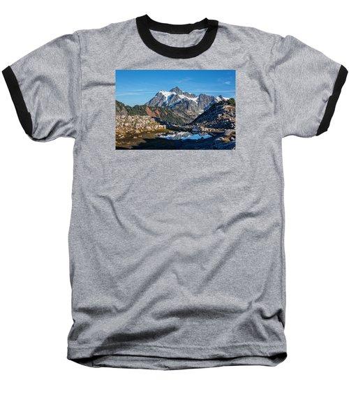 Mt. Shuksan Baseball T-Shirt by Sabine Edrissi Photography