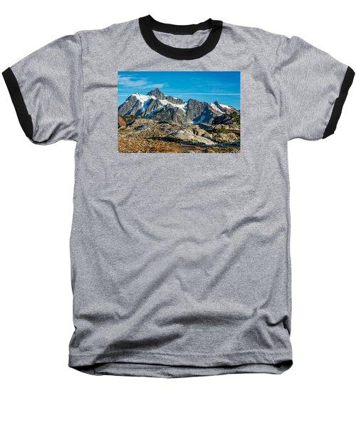Mt. Shuksan, Washington Baseball T-Shirt by Sabine Edrissi