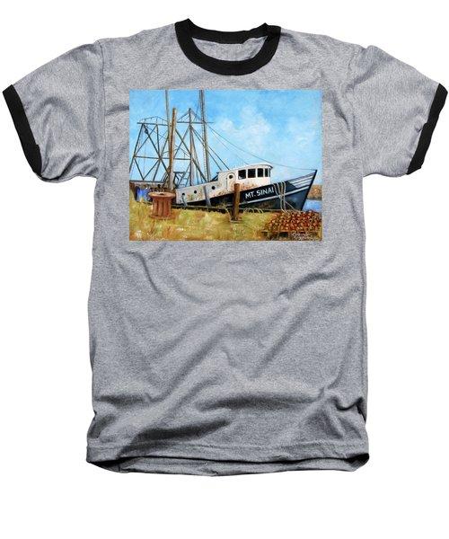 Mt. Sinai Fishing Boat Baseball T-Shirt