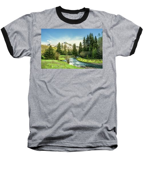 Mt. Sneffels Peak Baseball T-Shirt