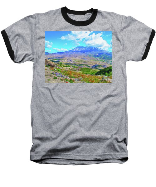 Mt. St. Helens Wildflowers Baseball T-Shirt by Ansel Price