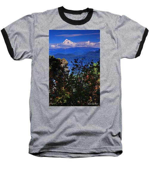 Mt.hood N Fall Baseball T-Shirt by Steve Warnstaff