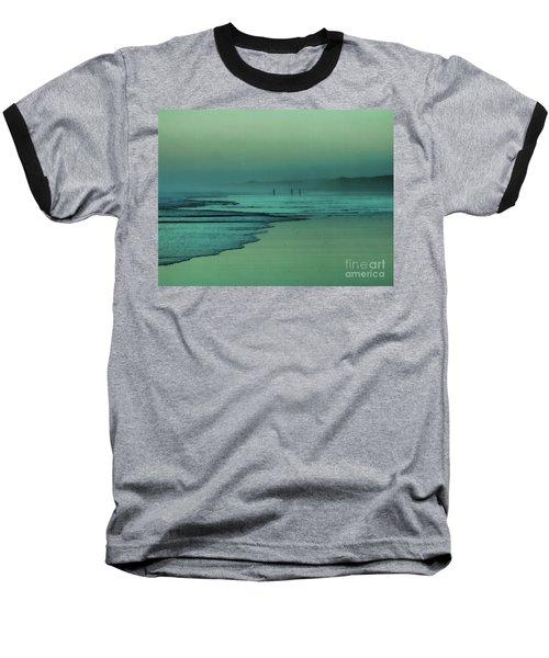 Muawai Sunset Baseball T-Shirt by Karen Lewis
