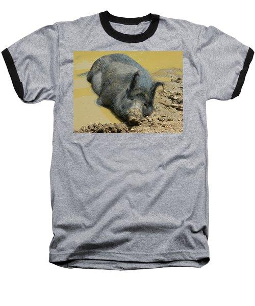 Mud Spa Baseball T-Shirt by Emmy Marie Vickers