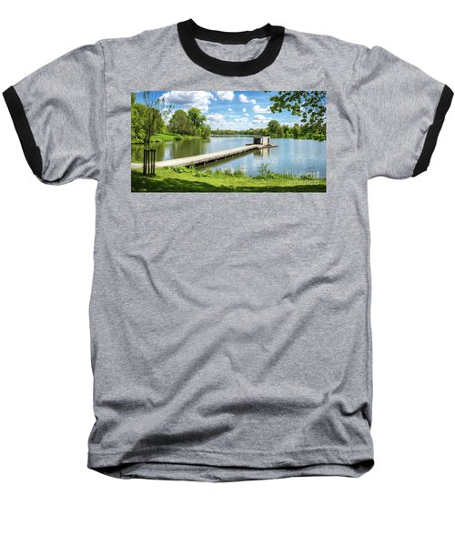 Muenster Aasee Panoramic View Baseball T-Shirt