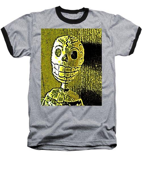 Muertos 1 Baseball T-Shirt by Pamela Cooper