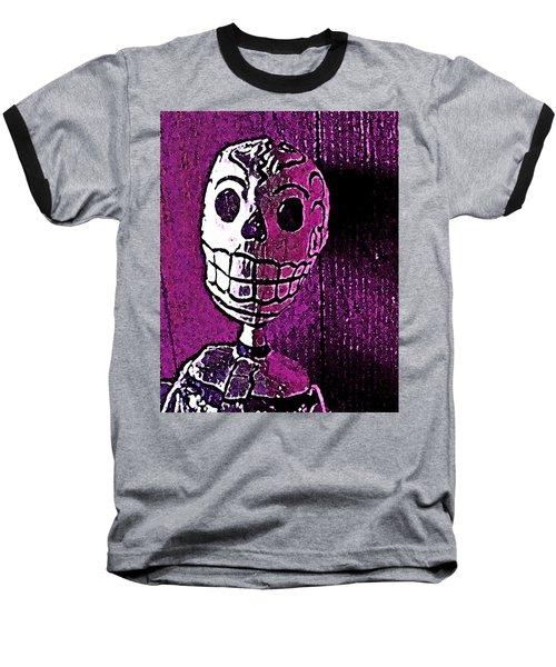 Muertos 3 Baseball T-Shirt by Pamela Cooper
