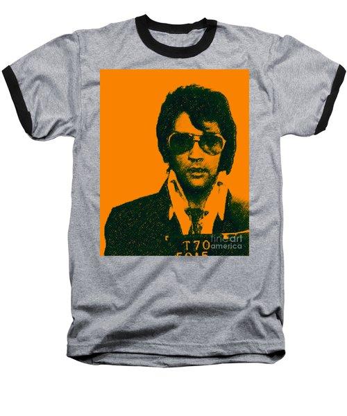 Mugshot Elvis Presley Baseball T-Shirt