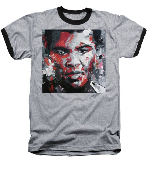 Baseball T-Shirt featuring the painting Muhammad Ali II by Richard Day