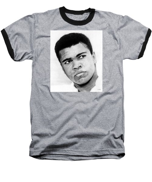 Muhammad Ali Pencil Drawing Baseball T-Shirt