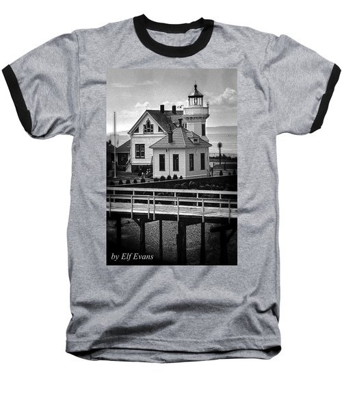 Baseball T-Shirt featuring the photograph Mukilteo Lighthouse by Elf Evans