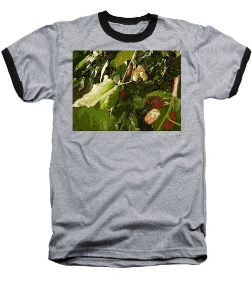 Baseball T-Shirt featuring the digital art Mulberry Moment by Winsome Gunning