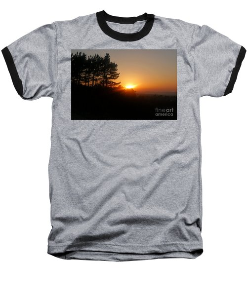 Mulholland Sunset And Silhouette Baseball T-Shirt by Nora Boghossian