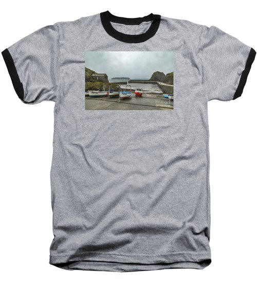 Mullion Cove Harbour Baseball T-Shirt
