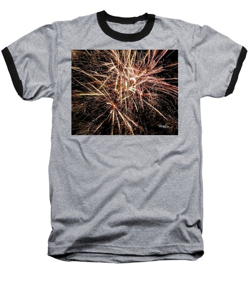 Baseball T-Shirt featuring the photograph Multi Blast Fireworks #0721 by Barbara Tristan