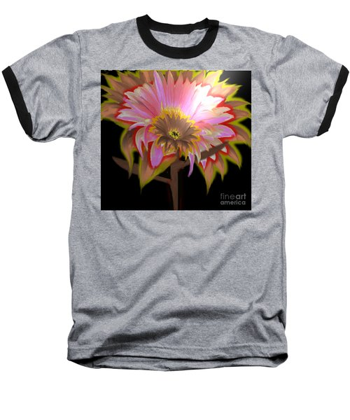 Multi Color Daisy Baseball T-Shirt by Belinda Threeths
