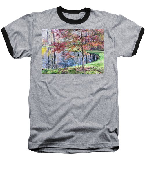 Multi Color Japanese Maple Baseball T-Shirt
