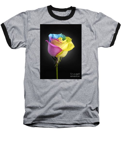 Rainbow Rose 1 Baseball T-Shirt
