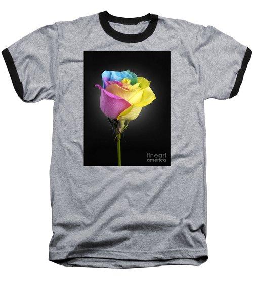 Rainbow Rose 1 Baseball T-Shirt