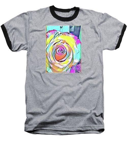 Multi-colored Rose Baseball T-Shirt