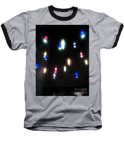 Multi Colored Lights Baseball T-Shirt