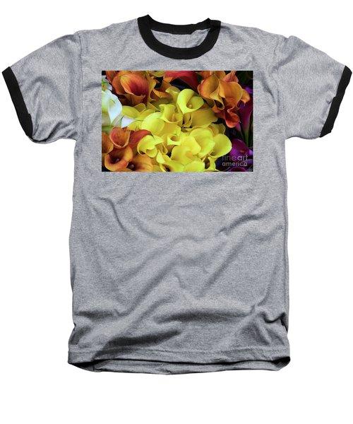 Multicolored Calla Lillies Baseball T-Shirt