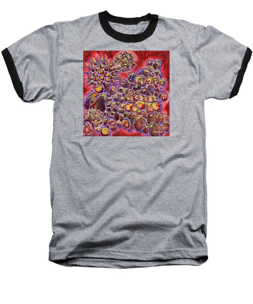 Multiply Microbiology Landscapes Series Baseball T-Shirt by Emily McLaughlin
