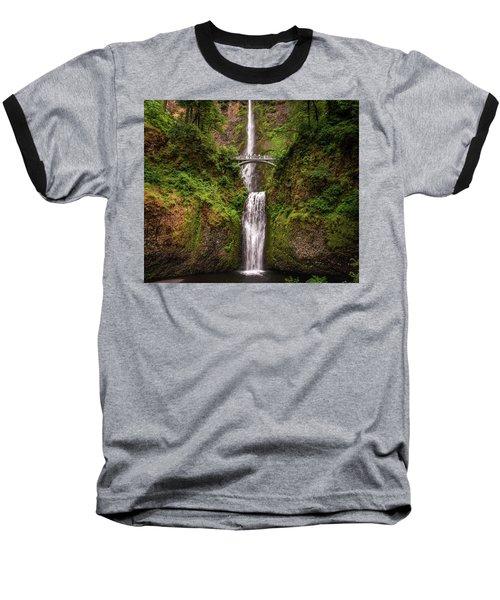 Multnomah Falls Baseball T-Shirt