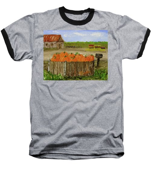 Mum And Pumpkin Harvest Baseball T-Shirt