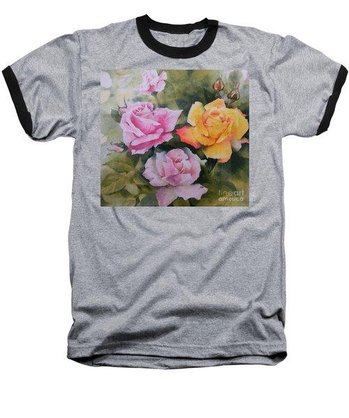 Mum's Roses Baseball T-Shirt