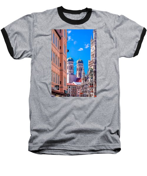 Munich Center Baseball T-Shirt by Juergen Klust