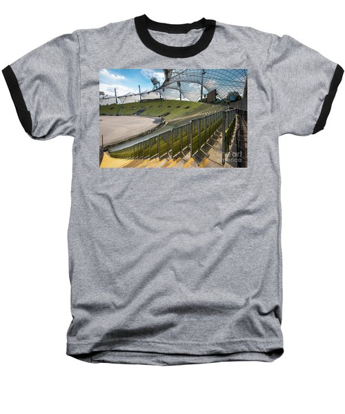 Munich - Olympic Stadium Baseball T-Shirt by Juergen Klust