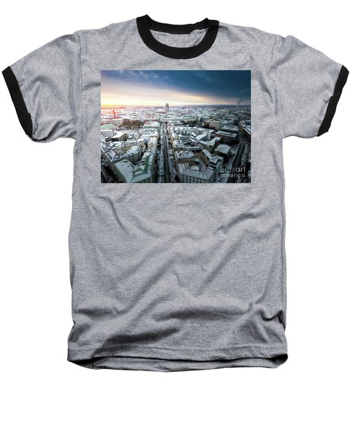 Baseball T-Shirt featuring the photograph Munich - Sunrise At A Winter Day by Hannes Cmarits